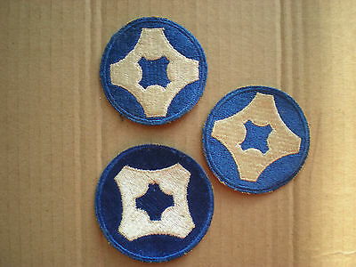 WW2 US Army 4th Service Command patches (3)