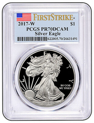 2017 W $1 Proof American Silver Eagle 1oz PCGS PR70DCAM First Strike