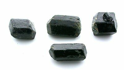 Four Double Terminated Black Tourmaline Crystal Gem Stone Gemstone Natural 7088