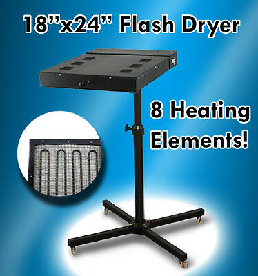 "18"" X 24"" Flash Dryer Silkscreen T-shirt Printing Curing Adjustable Height 1"