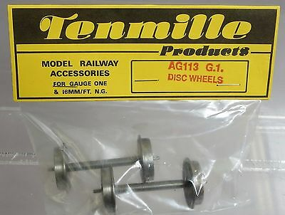 Tenmille Products AG113 G.1. Disc Wheels for Gauge One 24mm dia
