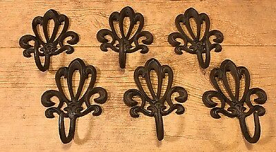 Cast Iron French Style Rustic Wall Hook (Set of Six) Home Decor 0170S-01623
