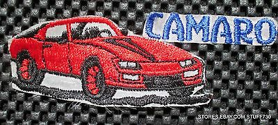 "CAMARO EMBROIDERED SEW ON PATCH AUTOMOBILE CHEVY CHEVROLET UNIFORM 5"" x 2"""