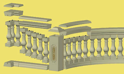 Baluster Railing 13 Piece Mold Set