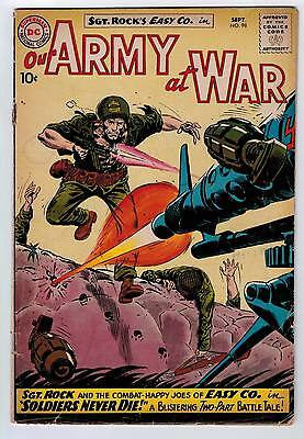 Our Army At War #98 3.0 Kubert Art Off-White Pages 1960