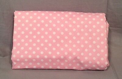 Pottery Barn Kids Pink Mini Dot Toddler Duvet Cover