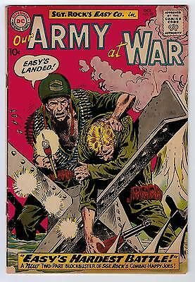 Our Army At War #99 3.5 Kubert Art Off-White Pages 1960