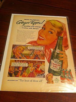 Vintage 1954 Canada Dry Ginger Ale Square Dancing ad