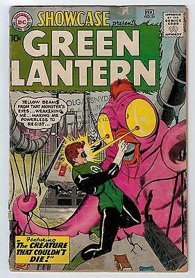 Showcase #24 1.5 3Rd Silver Age Green Lantern Cream/ow Pages 1960