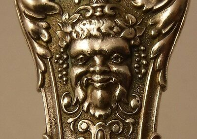 ANTIQUE BRUCKMAN & SOHNE GERMANY 800 silver FIGURAL ICE CREAM SLICE BACCHUS