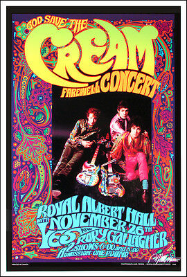 Cream Farewell Concert Poster Bob Masse Karl Ferris Nice Repro Signed by Masse