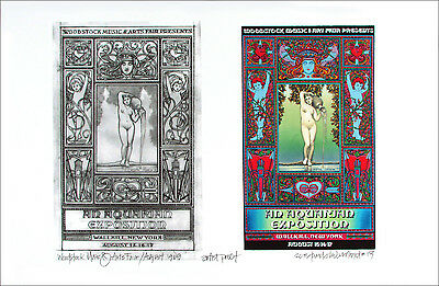 Woodstock Wallkill '69 Image + Found Sketch New A/P Signed David Byrd COA