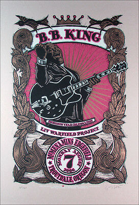 BB King 80th Birthday Tour Poster Original Signed Silkscreen Gary Houston