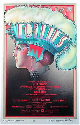 Sondheim's Follies Poster Gorgeous 1990 Reprint Print Hand-Signed by David Byrd