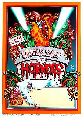 Little Shop of Horrors Full-Sized Poster Giclee Print Signed by David Byrd