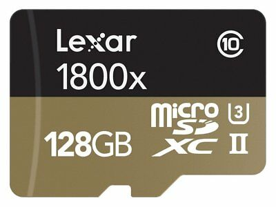 Lexar Professional 128GB 1800x Class 10 microSDXC UHS-II/U3 4k Flash Memory Card