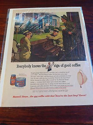 Vintage 1950 Maxwell House Coffee Moving Day Coffee ad