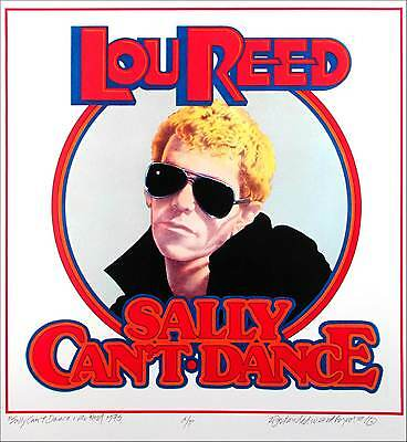 Lou Reed Sally Can't Dance Album Cover Art Artist's Edition Signed by David Byrd