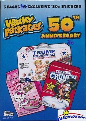 2017 Topps Wacky Packages 50th Anniversary EXCLUSIVE Factory Sealed Value Box