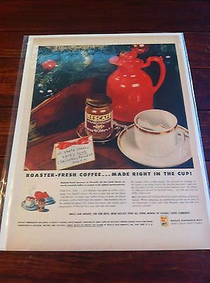 Vintage 1946 Nescafe Coffee Letter To Santa Christmas ad