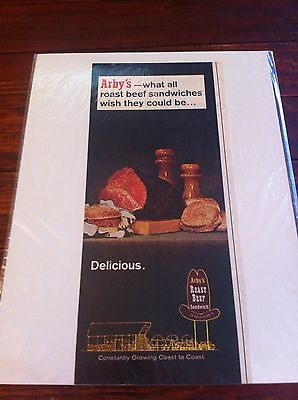 Vintage 1967 Arby's Restaurants Delicious Roast Beef Sandwiches ad