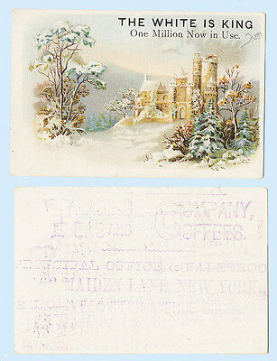 Victorian Trade Card - The White is King Sewing Machine New York