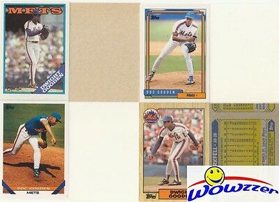 Rare Lot of (8) Different Topps Dwight Gooden ERROR CARDS from 1987-1992!