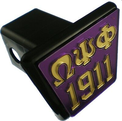 "Omega Psi Phi 1911 Trailer Hitch Cover [Purple/Gold - 2""R]"