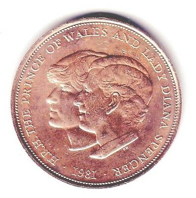 C2919     GREAT BRITAIN    COIN,     25  PENCE  ROYAL WEDDING   1981  Unc.