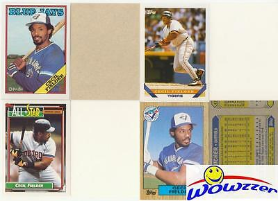 Rare Lot of (12) Different Topps Cecil Fielder ERROR CARDS from 1987-1992