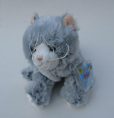 WB5 Silver soft cat gray kitty WEBKINZ PLUSH new code stuffed animal ganz