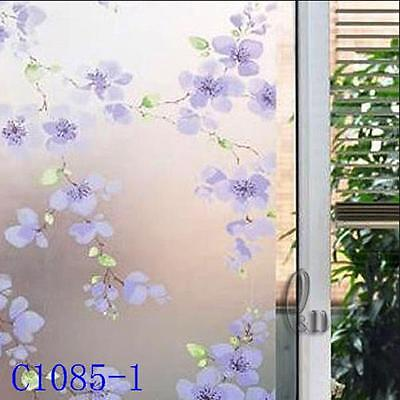 90cm x1m Floral Privacy Frosted Frosting Removable Glass Window Film c1085-1