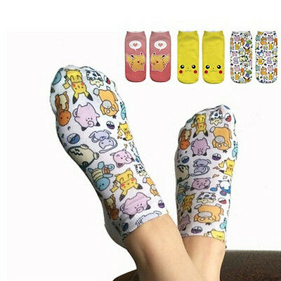 Anime Pokemon Go Cartoon Socks Pikachu Pocket Monster Character Short SocksLAUS