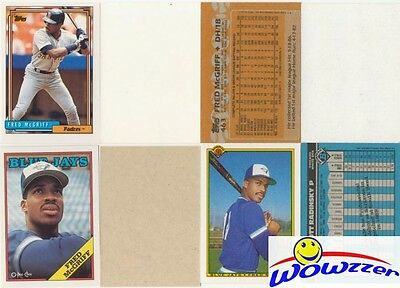 Rare Lot of (9) Different Topps Fred McGriff ERROR CARDS from 1987-1992