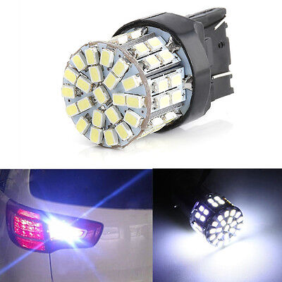 White T20 7443 W21/5W 1206 50SMD LED Car Tail Turn Braket Parking lamp Light