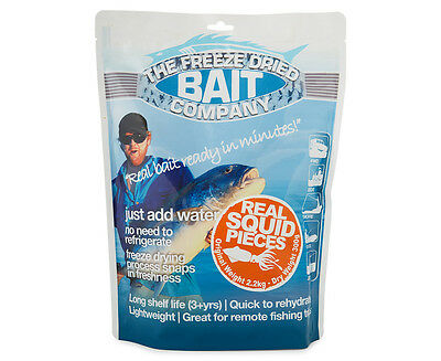 The Freeze Dried Bait Company Real Squid Pieces 300g (2.2kg wet)