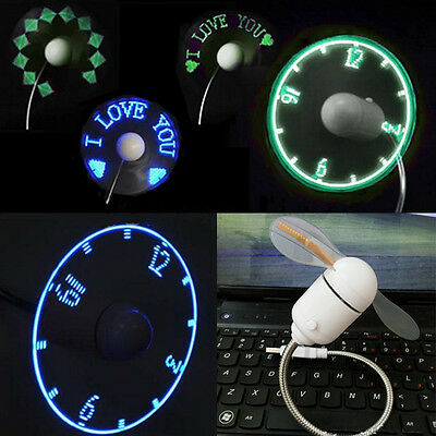 Chip Programmable Portable Usb Led Flashing Message Fan For Pc Laptop Notebook N