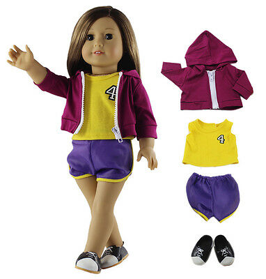 "Doll Clothes for 18"" American Girl Doll Handmade Basketball Clothes Outfit+Shoes"