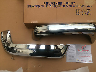 Mercedes Pagoda Model REAR BUMPERS Chrome  230SL 250SL 280SL  W111 112