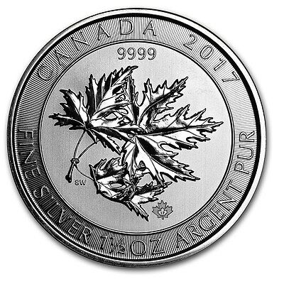 Kanada Canada Multi Maple Leaf Superleaf 1,5 oz 2017 8$ CAD 999 Silber Münze