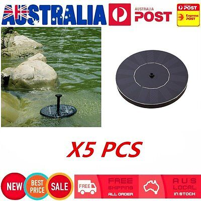 5X Solar Powered Water Pump Fountain Pond Kit for Waterfalls Water Display LOT R