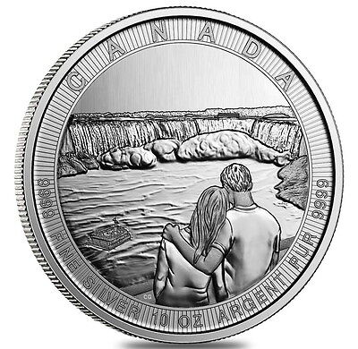 10 oz Kanada the Great Niagarafälle Niagarafall 10 oz 999 Silber Silbermünze