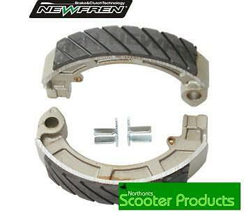 Vespa Px Brake Shoes Race Compound Rear Shoes Px 125 150 200 Grooved