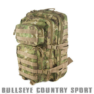 Mil-Tec US Assault Pack Multitarn 36 Ltr Camo Rucksack Backpack Airsoft Camping