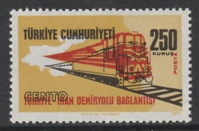 Turkey 3319 - 1971 RAIL LINKS SUPERB COLOUR SHIFT unmounted mint