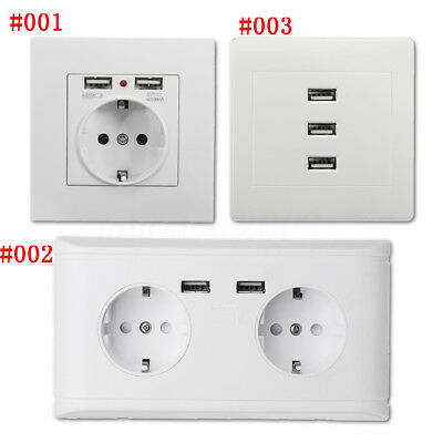 2.1/2.4/10A USB Port Wall Socket Charger Wall Adapter EU Power Outlet Home Panel
