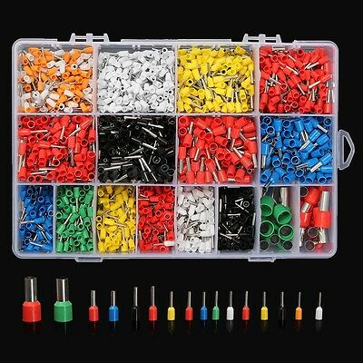 2120Pcs Wire Copper Crimp Connector Insulated Cord Pin End Terminal AWG 22-5