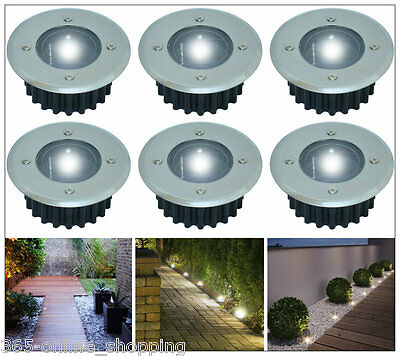 New Solar Decking Lights White Led Garden Deck Patio Driveway Stainless Steel Uk