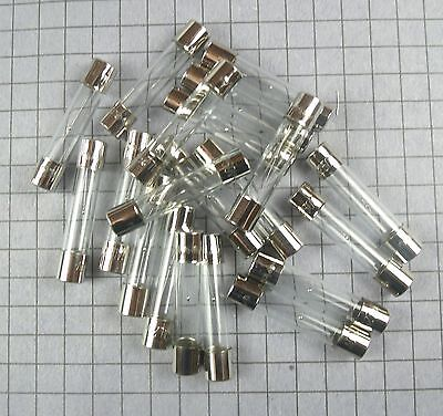 Fuse: 6x30mm : Slow Blow 1A 250V Glass : 15pcs per lot
