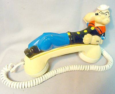 Vintage Popeye Phone Receiver For Dial Phone King Features 1982 Western Electric